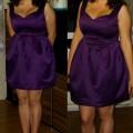 Elegancka fioletowa sukienka bombka