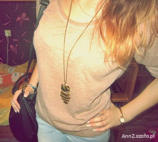 Blogerek brązowy swetere