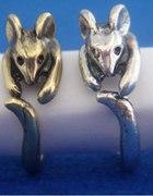 Pierścionek mysz myszka stare złoto lub srebro