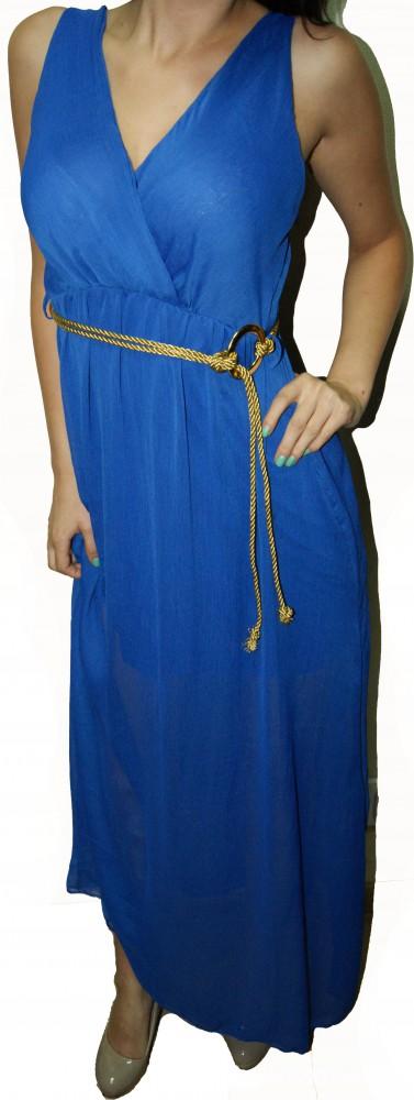 Suknie i sukienki ZWIEWNA WŁOSKA DŁUGA SUKIENKA SUKIENECZKA MAXI