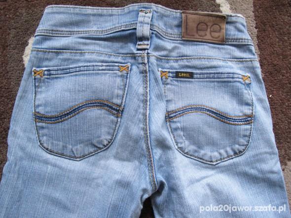 jeansy Lee Leola 25x33 niebieskie