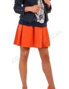 Granatowa marynarka ze spódniczką orange...