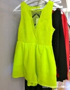 limonkowa neonowa mini