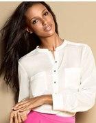 H&M Koszula złote guziki kieszonki