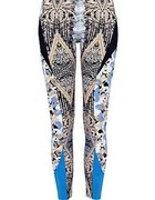 spodnie we wzory wzorzyste spodnie