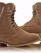 Militarne Sztyblety Workery Karmel Glany 38 39 40