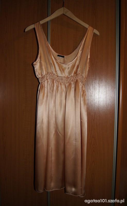 Suknie i sukienki Sukienka satynowa pomarańczowa