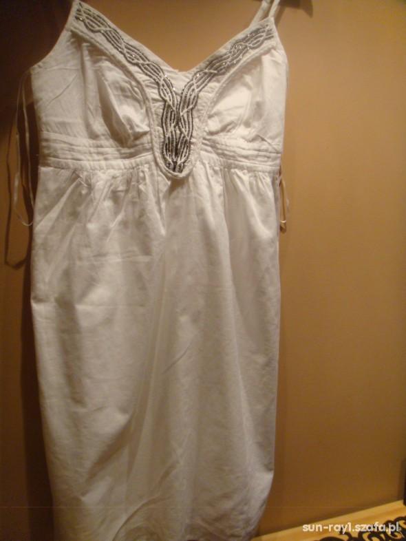 Suknie i sukienki IDEALNA NA LATO ZWIEWNA BIAŁA SUKIENKA BOHO