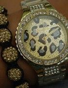 Złoty zegarek panterka