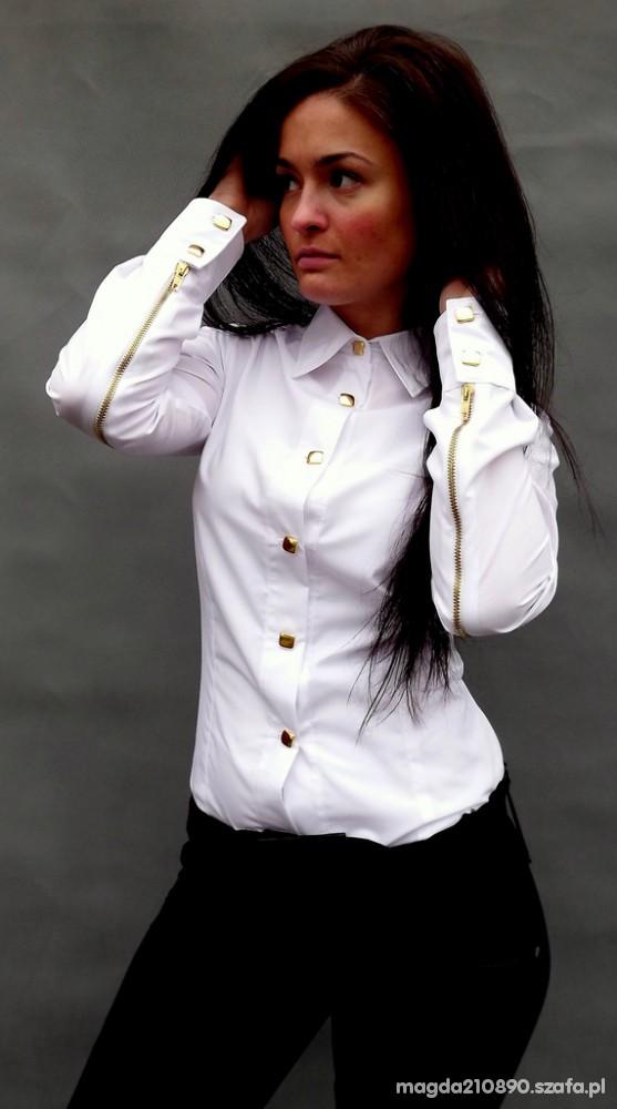Maklerska bogata koszula z zamkami cudna