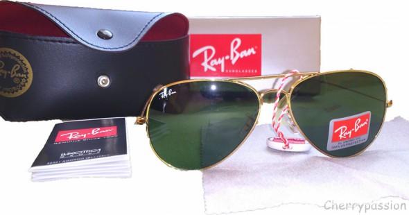 c95a198a98fce6 Złote okulary Ray Ban Aviator 3025 Pilotki metal w Okulary - Szafa.pl