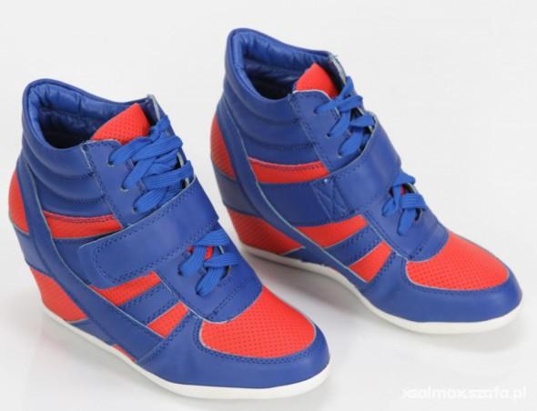 Sneakers trampki na koturnie