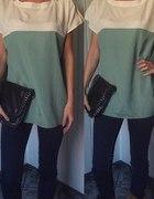 kremowo mietowa bluzka