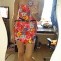 Sukienka z baskinką floral