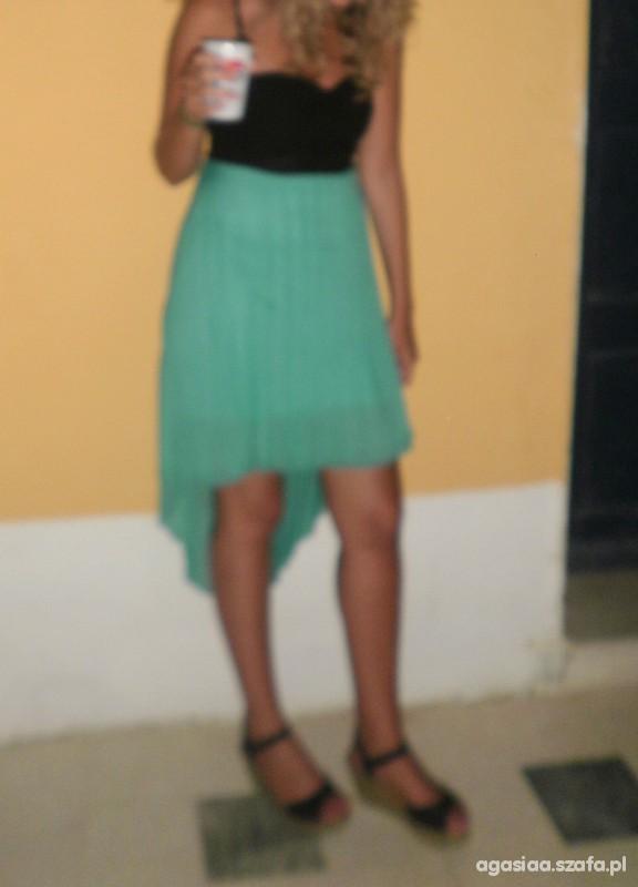 Suknie i sukienki asymetryczna sukienka