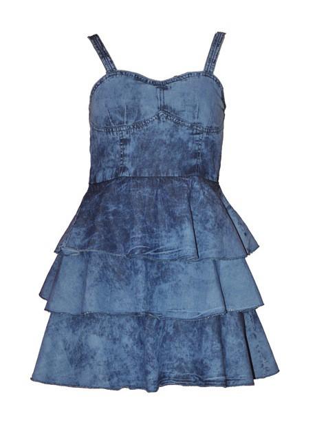 Jeansowa gorsetowa sukienka XS