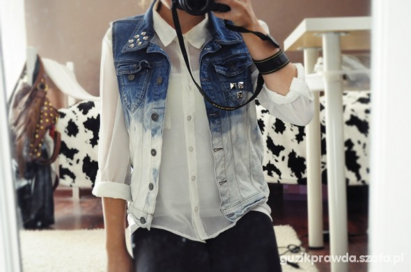 Mój styl jeansowa kamizelka DIY