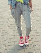 spodnie baggy dresowe legginy...