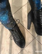 nowe czarne botki