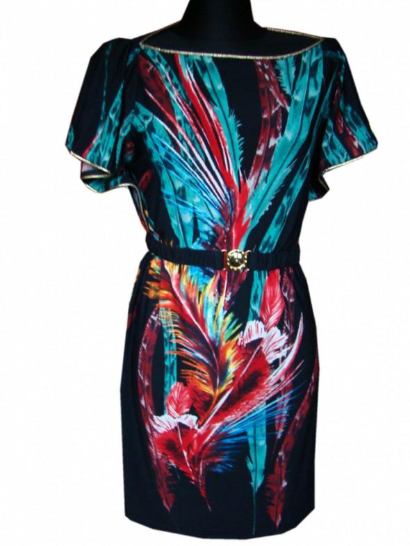 kolorowa sukienka M L