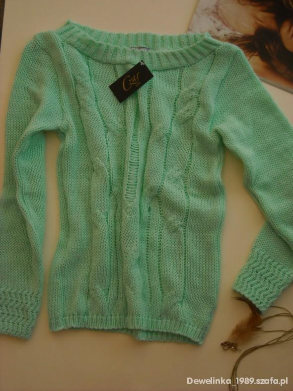 Swetry nowy sweter miętowy