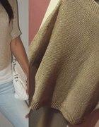 sweter ciemny bez