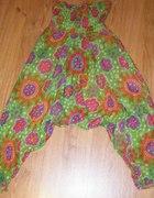 Spodnie aladyny pumpy szarawary w kwiaty EKSTRA