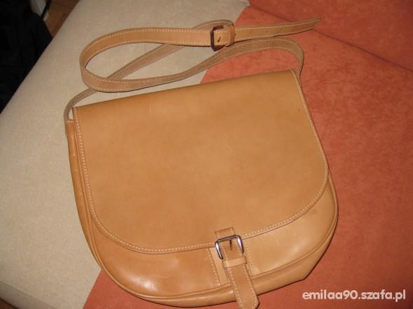 Skórzana torebka listonoszka