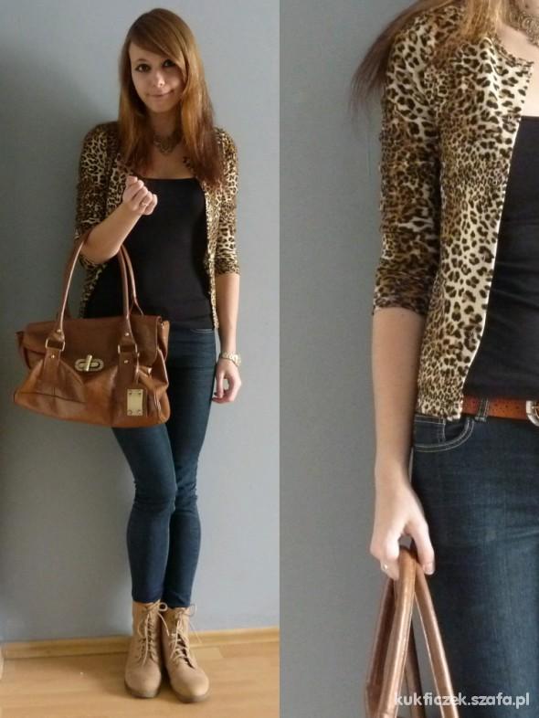 Mój styl leopard jacket