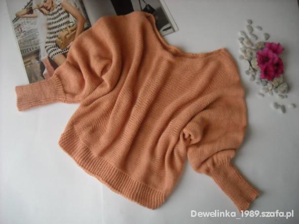 Swetry nowy morelowy sweter długie rękawy 32zł