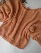 nowy morelowy sweter długie rękawy 32zł