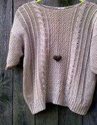 pleciony sweterek Jesień