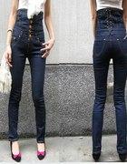 Spodnie wysoki stan gorset 42
