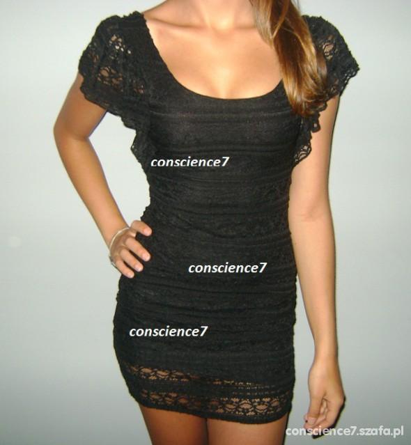 Suknie i sukienki koronkowa Mini sukienka MANGO studniówka