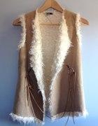 kamizelka ciepła kożuszek futerko new look blogi
