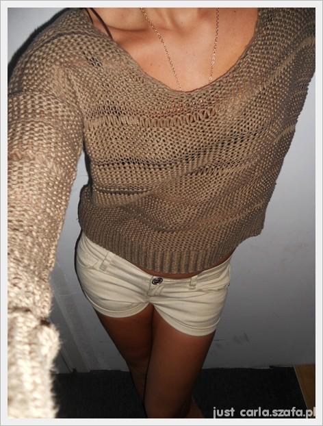 ażurkowy sweterek new look opalizujący...