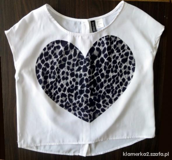Tshirt oversize serce HandM
