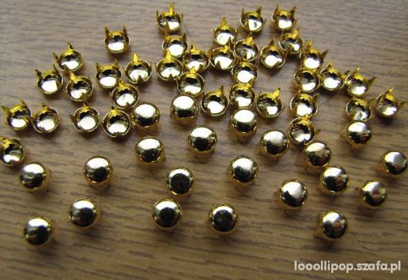 Pozostałe złote cwieki okragłe srednica 5mm