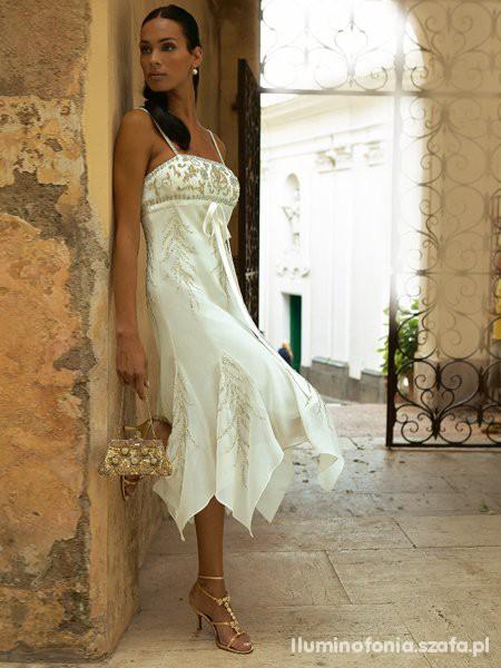 sukienka apart złoto krem...