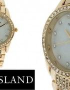 ASOS River Island zegarek złoty z cyrkoniami