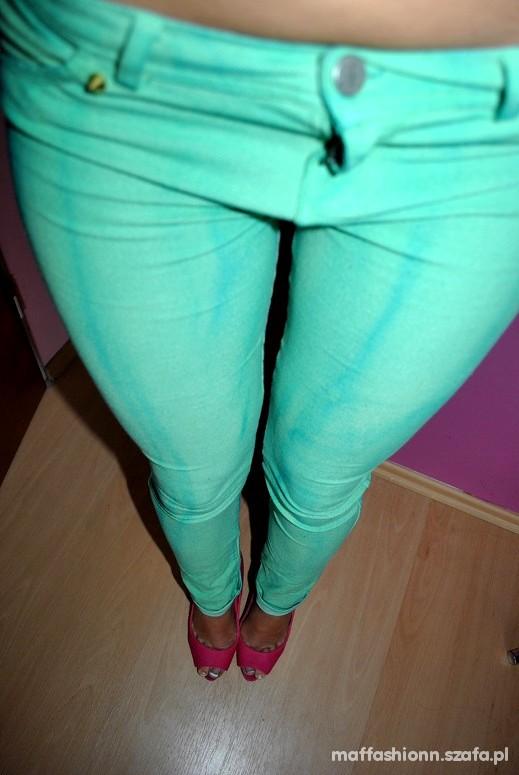 Spodnie Bershka Mint Cieniowane Tregginsy ćwieki HIT