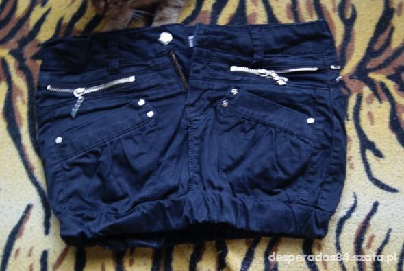 Spodnie mini czarna zip zipy bombka