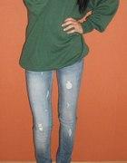 zielony cieplutki sweter