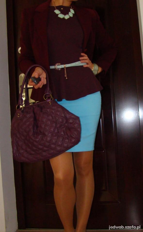 Mój styl Bordo i błękit