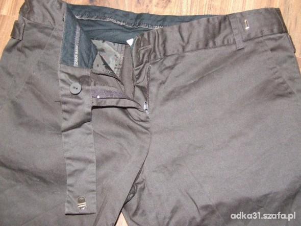 Spodnie czekoladowe ZARA 38