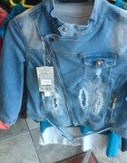 Kurtka jeansowa w rozmiarze xs