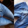 jeansy przecierane