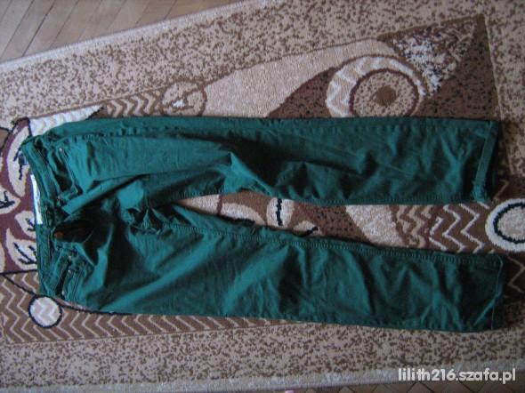 Spodnie Nowiutkie zielone spodnie h&m 40