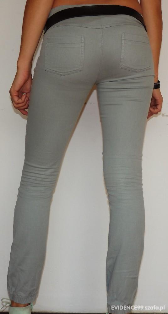 Spodnie Szare rurki S M