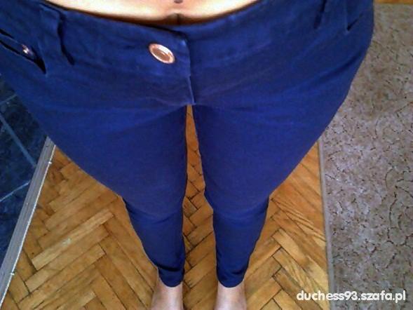 Spodnie Granatowe rurki denim H&M 0 zł przesyłka